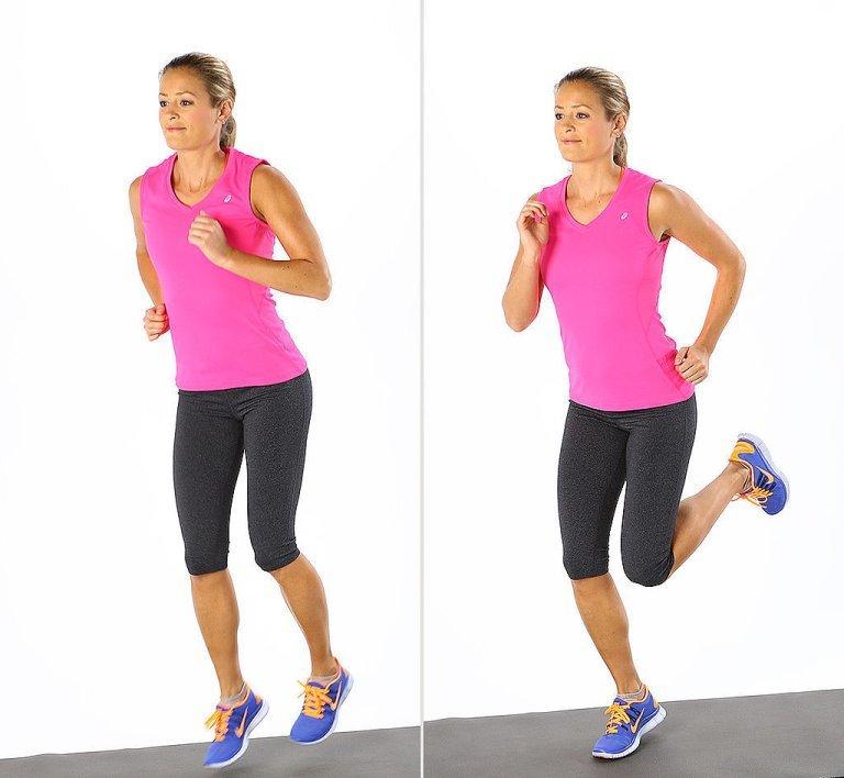 Бегать похудеть в ноги
