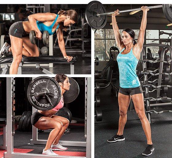 Принципы женских тренировок на мышечную массу