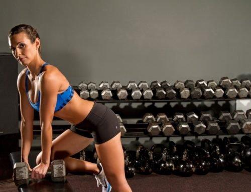Тренировка для похудения для девушек в тренажёрном зале